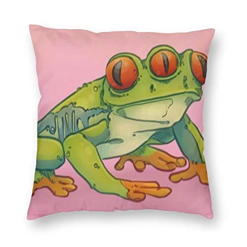 THsirtee Eyes Frog Kissenbezug Kissenbezug Für Taille Hug Platz Kissenbezug Dekoration Home Deco 18