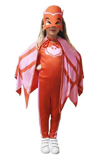 Inception pro infinite taglia 130 - 7 - 9 anni - costume - travestimento - carnevale - halloween - gufo - rosso - super eroi - bambini