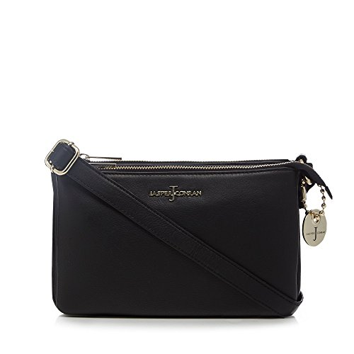 J By Jasper Conran Black Leather Three Compartment, used for sale  Delivered anywhere in UK