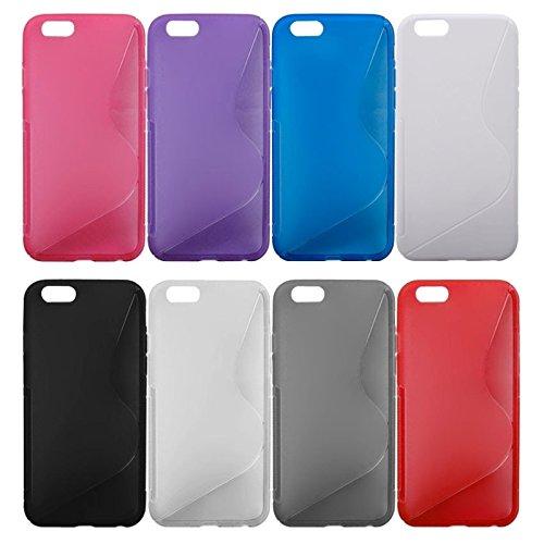 Phone case & Hülle Für iPhone 6 / 6S, S Line Anti-Rutsch-matt TPU Schutzhülle ( Color : Red ) Blue