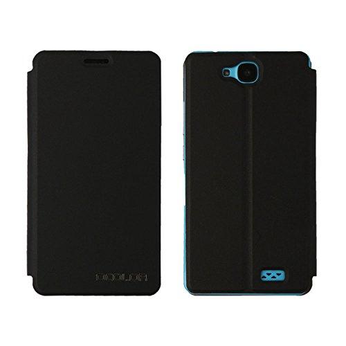 Guran® PU Leder Tasche Etui für Oukitel C3 Smartphone (Keine Innenschale) Flip Cover Stand Hülle Case-schwarz