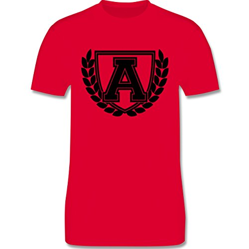 Anfangsbuchstaben - A Collegestyle - Herren Premium T-Shirt Rot