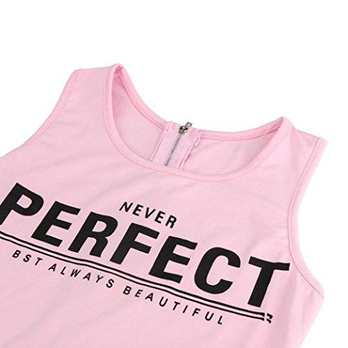 Ouneed® Élégante Simple Tight-raccord Rompers Combinaison Uni Jumpsuit d'une Seule Pièce Short Salopette Femmes Bretelles Tops + Pantalon Combinaison Rose