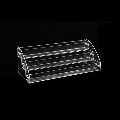 N/ YAOUXSN Aufbewahrungsbox Mehrschichtiges, Verstellbares Acryl Nagellack Lipgloss Lippenstift Display Regal Transparentes Lidschatten Foundation Regal 3