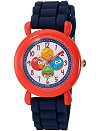 eWatchFactory Boy's 'Sesame Street' Quartz Plastic and Silicone Casual Watch, Color:Blue (Model: WSS000041)