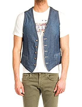 Carrera Jeans - Chaleco 406 para hombre, estilo denim, ajuste regular, sin mangas