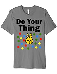 Children in need t shirt for adult spotty bear school work