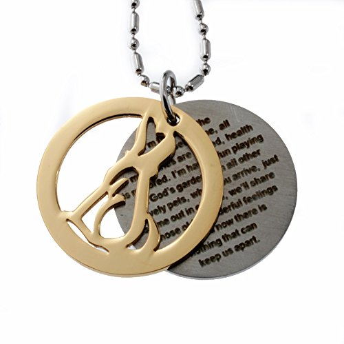 Dog Memorials Double Round Tag Stainless Steel Pendant