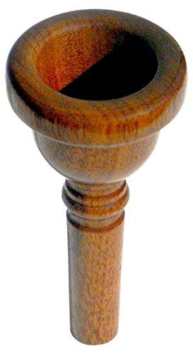 Rieger & Gräf TH12T Nuss Mundstück für Tenorhorn (hochwertiges Mundstück für Tenorhörner aus geöltem Nussholz mit Baritonschaft für eine ausgeglichene Ansprache)