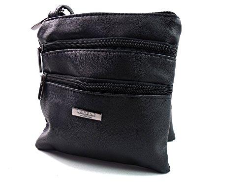 The Leather Emporium, Borsa a spalla donna Black