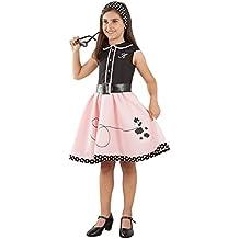 Disfraz Vestido años 50 para niña - Único, 5 a 7 años