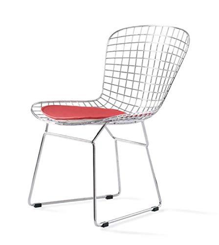 Pkfinrd Stuhl Nordic Openwork Eisenstuhl Vintage Kupfer Rose Metallstuhl Industrial Wind Outdoor schwarz Eisen Esszimmerstuhl@Weiß