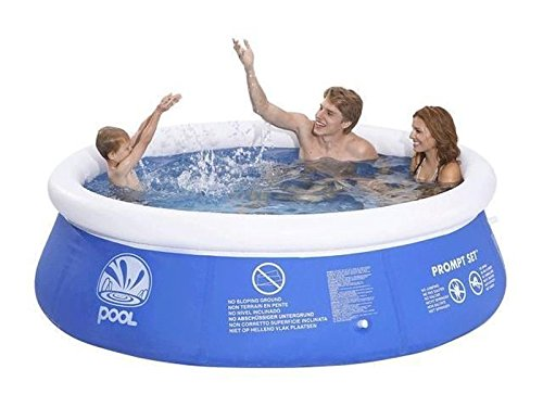 Hillington Round Inflatable Swimming and Paddling Pool Fast Prompt Set Summer Fun (10ft)