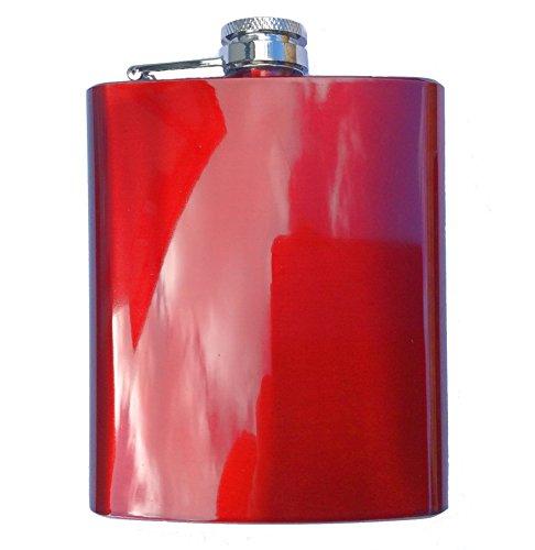 Preisvergleich Produktbild Arbeitshemd Farbige Edelstahl Flachmann rot