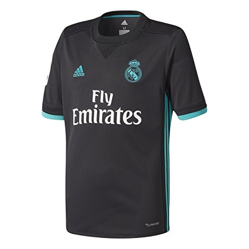 adidas Real Madrid Camiseta Temporada 2017/2018, Hombre, Negro, M