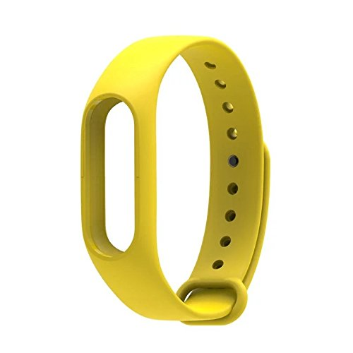 Wrist Strap Band Belt Wristband Silicone Wearable Case Cover For Xiaomi Mi Band 2 - Yellow (Not For Mi Band 1)  available at amazon for Rs.199