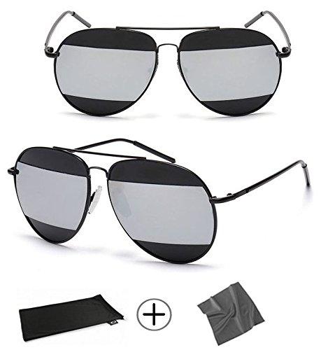 Sonnenbrille SO REAL trifft Split im Inneren reflektiert Chrtistian Di * R schwarz Limited Edition,