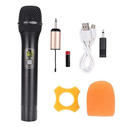 Denash Drahtloses Mikrofon, 600 MHz-700 MHz UHF Drahtloses Mikrofon mit Mini-Bluetooth-Empfänger Für Kirche, Haus, Karaoke, Geschäftstreffen (Drahtlose Mikrofone Für Kirchen)