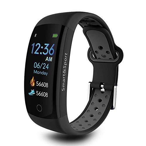 HHRONG Farbdisplay Smart Armband, Ip68 Wasserdichter Gürtel Schrittzähler Schlaf Monitor Fitness Tracker Sport Armband Kompatibel mit Android und Ios-Black (Persönliche Schlaf-tracker)