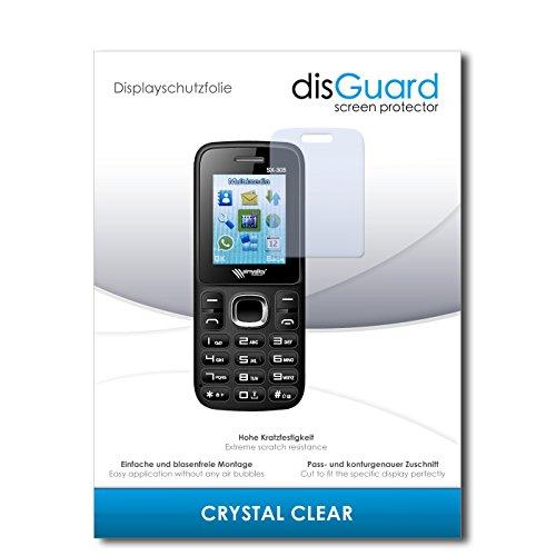 disGuard® Displayschutzfolie [Crystal Clear] kompatibel mit Simvalley Mobile SX-305 Dual-SIM [3 Stück] Kristallklar, Transparent, Unsichtbar, Extrem Kratzfest, Anti-Fingerabdruck - Panzerglas Folie, Schutzfolie