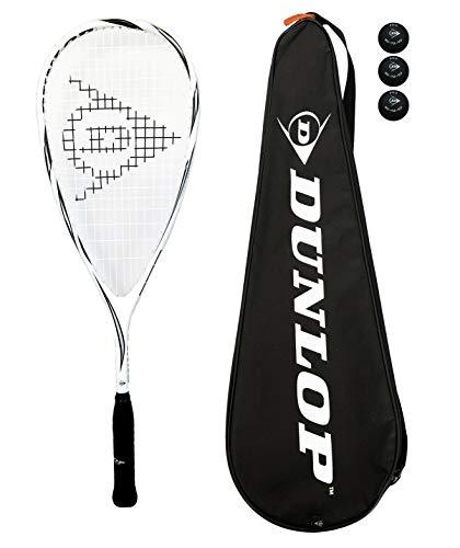 Dunlop Max Lite Squashschläger aus Titan mit 3 Squashbällen