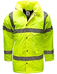 Hi Viz Vis Waterproof Storm Padded Parka Jacket Mens Coat by WWK / WorkWear King