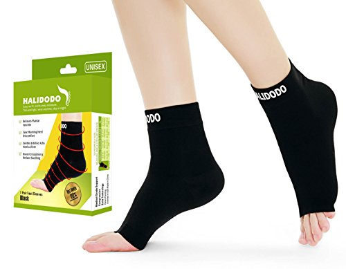 Plantar Fasciitis Socks with Arch & Foot Support Compression Foot Sleeves for Effective Heel, Arch & Ankle Support Improves Circulation, Soothes Achy Feet, Minimizes Foot Pain (1 Pair, Black) (M) Test