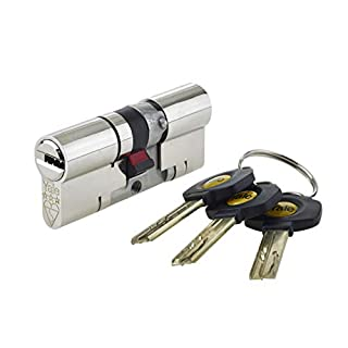 Yale YS3-4040N - Platinum 3 Star Anti-Snap Euro Cylinder Lock - 40/40 (80mm) / 40:10:40 - Nickel Finish - High Security