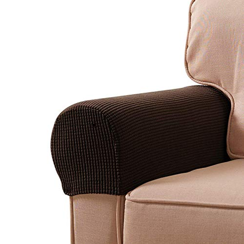 BETTERLE 2 Teile/Satz Sessel Armlehnen Abdeckung, Sofa Arm Abdeckungen Stretch Stoff Möbel Anti Slip Armlehne Abdeckung Sofas Protector (Style01) -
