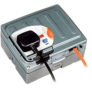 Theben/Timeguard 13A, BS Fixing, Active, 2 Gang RCD Socket, Thermoplastic, Surface Mount, Switched, IP66, Outdoor