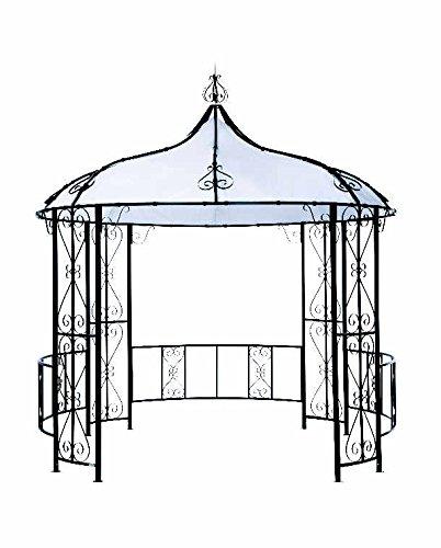 Tepro Pavillon schwarz-weiß ROWA 298x298x340 cm Garten Camping Terrasse 5540