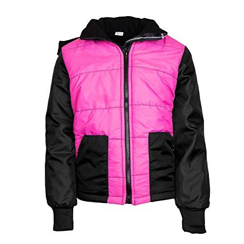 MS-Trachten Kinder Winter Reitjacke pink schwarz warm gefüttert (134/140)