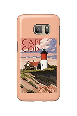 Cape Cod National Seashore, Massachusetts - Nauset Light and Sunset (Galaxy S7 Cell Phone Case, Slim Barely (Nauset Light Cape Cod)
