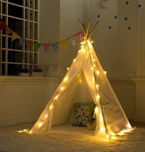 LED Lichterkette für Tipi Zelt, 4 x Strip Set Kinder Teepee Spielzelt Light Straps, Batterien Betrieben