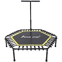 kylin Sport Fitness (50), cama elástica con Interior y Exterior Ajustable mango en T hexagonal Mini trampolín para niños/adultos