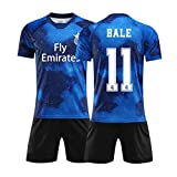 FNBA 2020 Real Madrid Club Gareth Bale # 11 Kids Soccer Football Jersey Set Regalo Misure giovanili Pantaloncini da Calcio in Jersey-Blue-XL