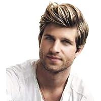 Postizos La peluca de los hombres, moda peluca corta hermosa (alambre de alta temperatura