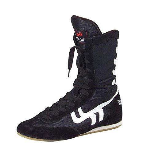 Botas de Boxeo Botas de Boxeo Entrenamiento de Combate con Suela de Goma Deporte Zapatillas de Deporte...