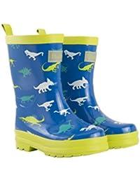 Hatley Boys' Printed Rain Wellington Boots, Dinosaur Menagerie, 8 Child UK 24 EU