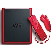 Console Nintendo Wii mini rouge + Télécommande Wii Plus rouge + Manette Nunchunk Wii - rouge + Alimentation pour Wii + Câble AV pour Nintendo Wii + Capteur pour Wii+ Prise Péritel pour wii