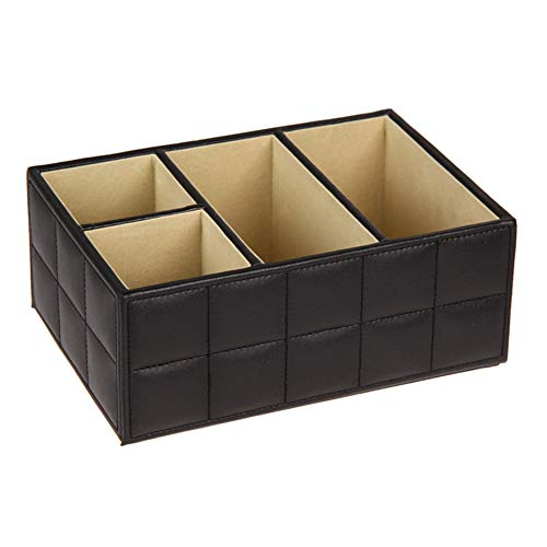 HFDIHS HFDIHSAufbewahrungsLeather Storage Boxes Luxury for Remote Control Phone Cosmetic Make Up Container Home Office Car Organizer