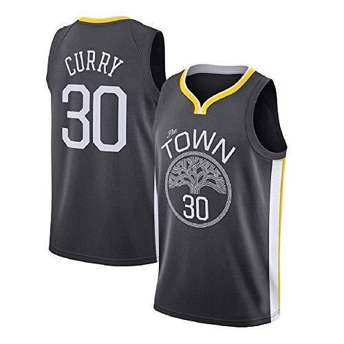 Herren Basketball Trikot Stephen Curry # 30 NBA Golden State Warriors - New Stoff Bestickt Swingman Jersey Ärmelloses Shirt (Color : D, Size : S) (Stephen Curry Swingman Jersey)