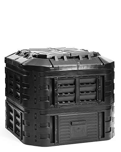myGardenlust Komposter - Schnellkomposter aus Kunststoff - Thermokomposter als praktisches Stecksystem - Kompostierer stabil und hochwertig - Composter...