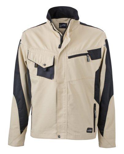 James & Nicholson, Herren, Workwear Jacket Cordura Stone/Black