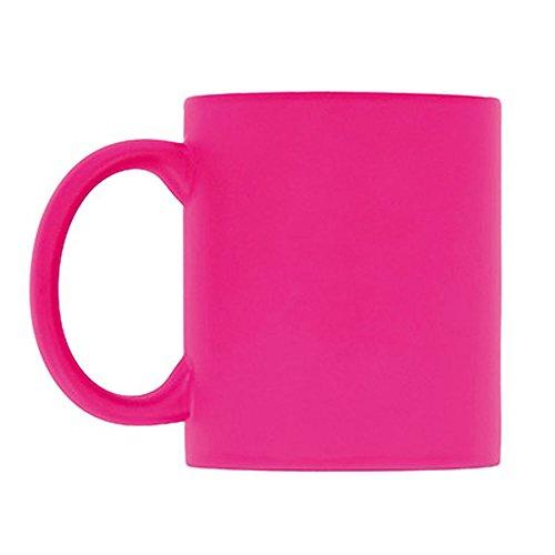 eBuyGB Leuchtende Fluoreszierende Tasse für Tee und Kaffee, Keramik, Rose, 1 Stück