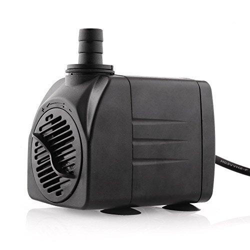 Amzdeal Bomba de Agua Bomba Sumergible Bomba Circulacion, 25W 1200L / H max Altura de 2m Bomba de Fuente, Estanque, Acuario, Pecera para