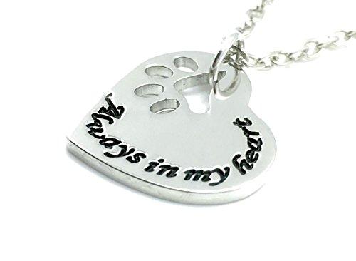 Charmtastic Haustier-Halskette - Always In My Heart Anhänger - Katze/Hund