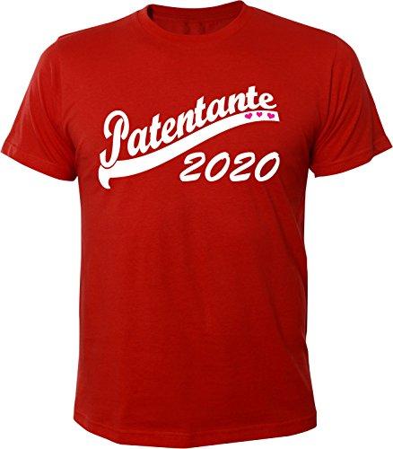 Mister Merchandise Herren Men T-Shirt Patentante 2020 Tee Shirt bedruckt Rot