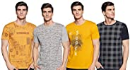 ACTIQUE Men's Cotton Blend Regular Fit T-Shirt (Pack o