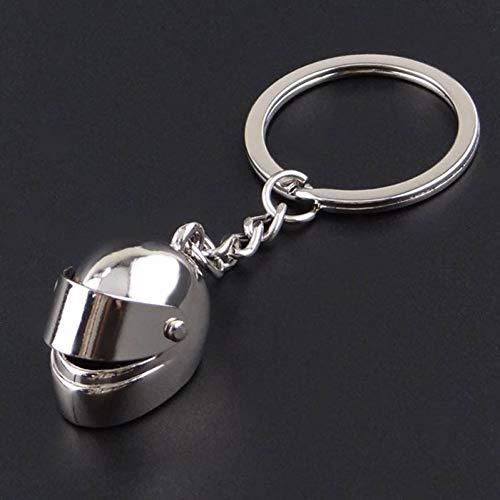 XYAYA Schlüsselbund 12Pcs / Lot Zink-Legierung Motorrad, Das Schutzhelm Beiläufigen Sportlichen Art-Schlüsselring Keychain, 02 Läuft -